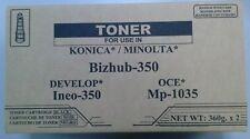 KONICA MINOLTA Bizhub 350 362 8938-402 8938402 Box of 2 TN-311 TN311 TONER