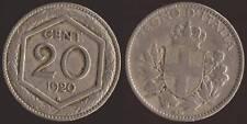 "20 CENTESIMI 1920 VITTORIO EMANUELE III - ESAGONO""RARA"""