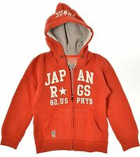 Japan Rags ●● Orange-Rouge Sweat-Veste M. Capuche Hoodie Taille 116 nouveau M. et.