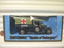 LESNEY MATCHBOX MODELS OF YESTERYEAR Y13 OLIVE RF 1918 CROSSLEY RAF TENDER CHR24