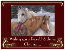 20 CHRISTMAS Holiday Greeting  HORSES  Peace Joy Post Cards PRINTED US OR CANADA