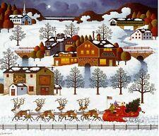 Charles Wysocki Print Legacy Series SANTA'S COMING TO TOWN # 672/1250 Christmas!