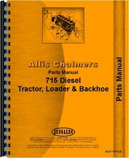 Allis Chalmers 715 Tractor Loader Backhoe Parts Manual AC-P-715 TLB