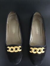 Russell And Bromley Black Suede Loafers Size 37.5