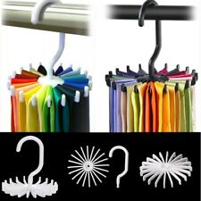 360° Rotating Tie Rack Hanger Organizer Twirling Scarf Belt Hook Holder Plastic
