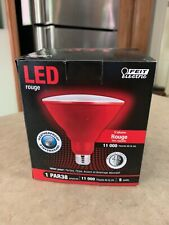 LED RED PAR38 FLOOD LIGHT WEATHERPROOF Indoor Outdoor Bulb Feit Electric
