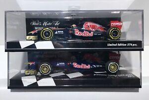 MiniChamp 1:43 Scuderia Toro Rosso 2x Models D Ricciardo 2012/13 Red Bull Racing