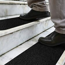 Anti-Slip Strips Pre cut Stair Treads Non-Slip Outdoor Grit Tape Black 10x Pack