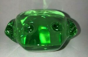 Val St Lambert De Sousa Frog Paperweight ~green~