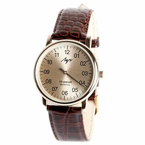 One Hand Luch Mechanical Wristwatch Men's. Single handed watch. 377477761 RUS