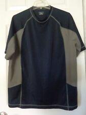 Land'S End Rash Guard Navy Gray Shirt Size L 42-44 Worn Twice