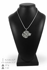 Labrador Retriever - silver plated necklace with silver cord, high quality, Art