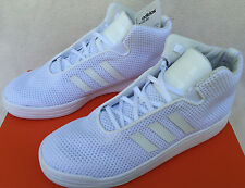 Adidas Veritas Mid B34530 Triple White Casual Basketball Sneakers Shoes Men's 8