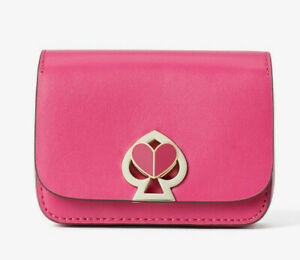 Kate Spade nicola twistlock micro crossbody Belt Bag Charm Clutch ~NWT~ Pink