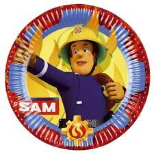 SET 8 PLATOS DE CARTÓN 23CM SAM EL BOMBERO (14249)