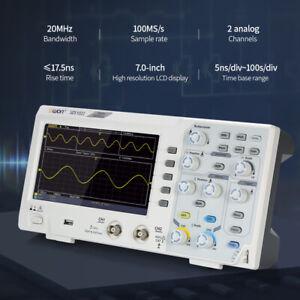 """Oscilloscope Oscillometer Digital Storage 2CH 20MHz 100MS/s 7"""" LCD Display 1pcs"""