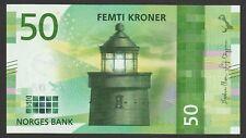 Norway 50 Kroner 2017 (2018) UNC NEW Lighthouse