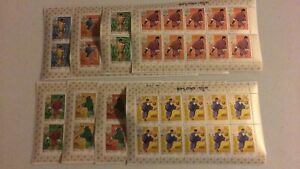SPECIAL LOT Bhutan 1968 SC 97-G - Mexico Olympics - 8 Stamp Sheets - 80 Stamps