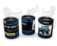 New Holland RETRO , OIL STAIN  Gift Mug, New Holland TYPE , FARMER , AGRI
