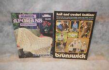2 Vintage Brunswick® Knitting Instruction Manuals Magazines - Vol. 767 & 8616
