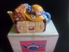 Schmid Teatime Harmonies Teapot/Music Box-1995 Bon Voyage-Betsy Hazelton-Works