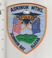 US Police Patch Scammon Bay Alaska Police Department Askinuk Mountains