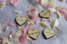 10x Personalised  Wedding Wooden Hearts centrepieces Laser cut