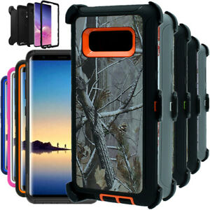 For Samsung Galaxy Note 8 Shockproof Camo Hard Case Clip Fits Otterbox Defender