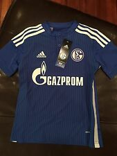New Adidas 2015-16 Schalke 04 Home Jersey, Size Youth Small (9-10 Years)