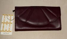 Nat & Nin Maroon Leather Wallet * ** Beautiful * NWTGS**