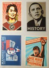 2009 Obama History Aung San Suu Kyi Myanmar Stickers by Shepard Fairey OBEY