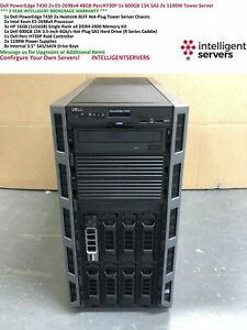 Dell T430 2x E5-2698v4 48GB PercH730P 1x 600GB 15K SAS 2x 1100W Tower Server