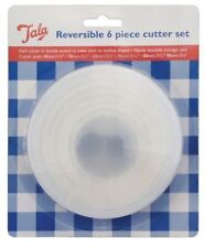 New Tala Reversible 6 Piece Plain & Crinkled Cutter Set  9241