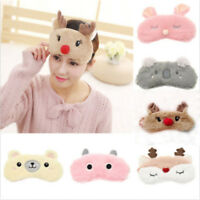 Plush Animals Sleeping Eye Mask Soft Padded Travel Eye Eyepatch Blindfold Shield