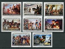 Rwanda 1976 MNH Independence Day USA 200th Anniv 8v Set Horses Art Stamps