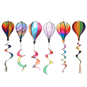 1pc Colorful Wind Spinner Windmill Kites Hot Air Balloon Decoration Ornament