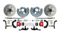 Mopar A Body Std Disc Brake Conversion Kit Red Calipers  (wheel pattern 5x4)