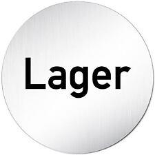 "Aluminium Schild 10 cm Ø ""Lager"" • Türschild • Tür • Wand • Alu • Privat • Küche"
