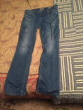 Womens Guess Nicole Boot Cut Jeans Size 32 / Size 12 Lightly Distressed