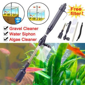Electric Aquarium Gravel Sand Fish Tank Vacuum Cleaner Pump Water Change
