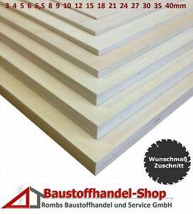 Sperrholz Birke Multiplex Sperrholzplatte Birkensperrholz Zuschnitt Bastelholz