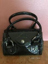 Stuart Weitzman Barrel Bag Doctor Bag Patent Leather Straw Never Used