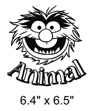 The Animal muppet monster car decal sticker selection of colours.