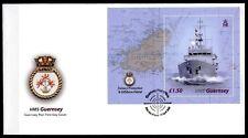 """Fischereisschutzboot  HMS  """"Gernsey"""". FDC. Block. GB - Guernsey 2003"""