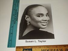 Rare Original VTG Journalist Essence Editor in Chief Beauty Susan L Taylor Photo