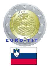 2 €  SLOVENIE  COMMEMORATIVE 2018 1  X  PIECE   NOUVEAU    2018    ABEILLE  2018