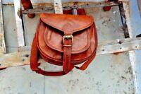 New Women Vintage Brown Leather Messenger Cross Body Bag Handmade Purse