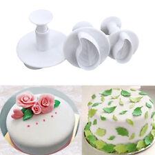 3pcs Leaf Plunger Cutter Mould Cookie Gum Paste Cake Decorating Mold New