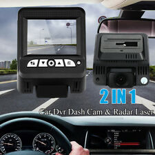【2 in1】Hidden Car DVR Detector Camera Video Recorder Dash Cam Radar Laser