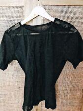 Woman's Black Harley Davidson Mesh Short Sleeve Shirt